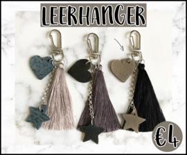 Leerhanger DIY pakket taupe/zwart