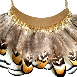 Inspiratie ketting 'ibiza feather'