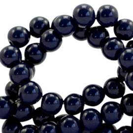 Glaskralen opaque 4mm Dark blue