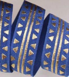 Elastiek triangel blue 15mm