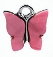Bedel vlinder hot pink zilver