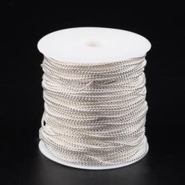 Ballchain zilver 1.5mm