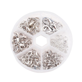 Karabijnsluiting set zilver