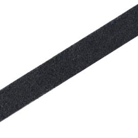 Leer suède plat 10mm antraciet zwart (DQ)