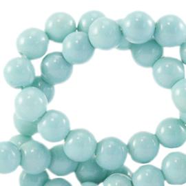 Glaskralen opaque Eggshell blue 6mm