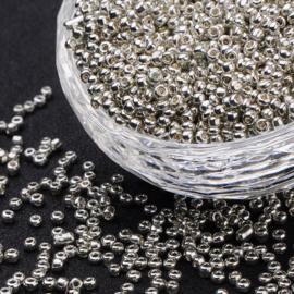 Rocailles zilver 2mm