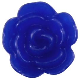 Rose bead cobalt blue 10mm