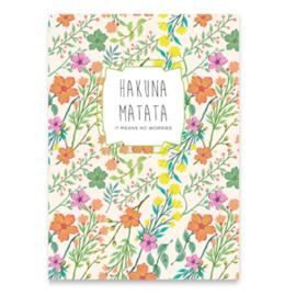 """Sieraden kaartjes """"Hakuna Matata"""" Multi colour"""