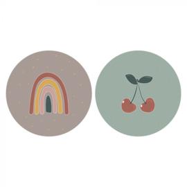 Sticker Cherry Rainbow duo
