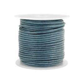 Leer rond 1 mm Haze blue metallic (DQ)