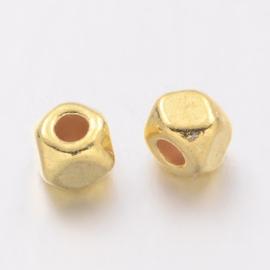 Kraal metaal screw 3x2.5mm goud