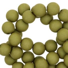 Acryl perlen green moss 6mm