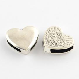 Slider heart silber