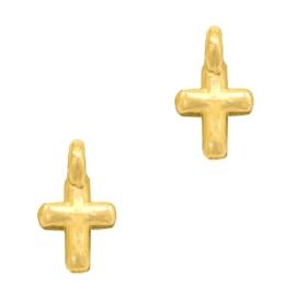 Bedels DQ metaal kruisje Goud (nikkelvrij)
