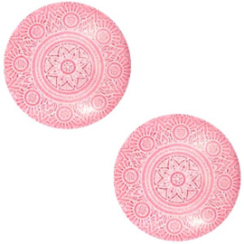 Cabochon mandala 12mm rouge red