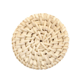 Geweven rotan hanger rond 35mm Naturel beige