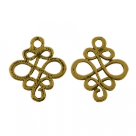 Connector Chinese knot gold (bulk)