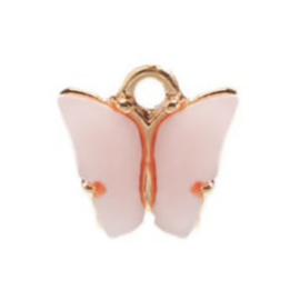 Bedel vlinder blush goud