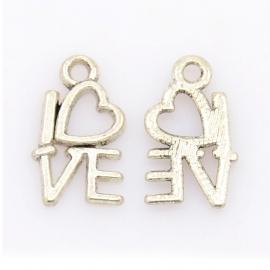 Bedel 'love' zilver (bulk)