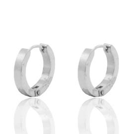 Roestvrij stalen (RVS) Stainless steel oorbellen creolen 16mm Zilver