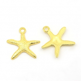 Pendant starfish gold (wholesale)