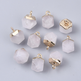 Bedel facet gemstone quartz clear gold