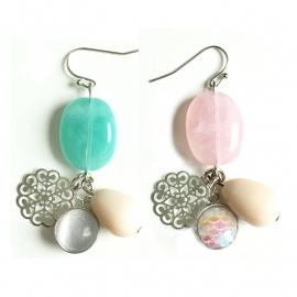 Inspiratie oorbellen 'gemstone look'