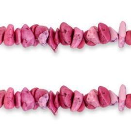 Chips stone kralen Magenta pink