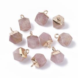 Bedel facet gemstone quartz strawberry gold