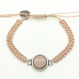 Armbandje ''super stone'' - greige & light peach