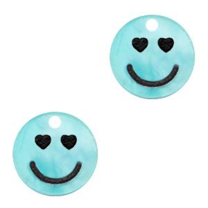 Plexx bedels smiley hearts Shiny tiffany blue