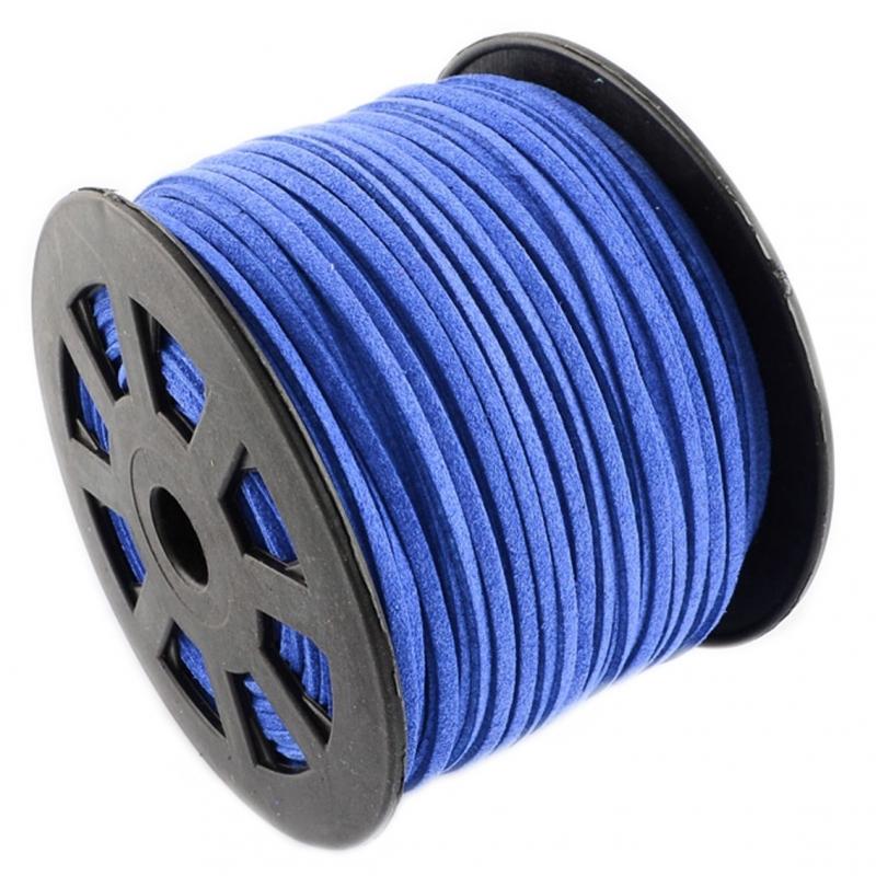 Suede kabel royal blue