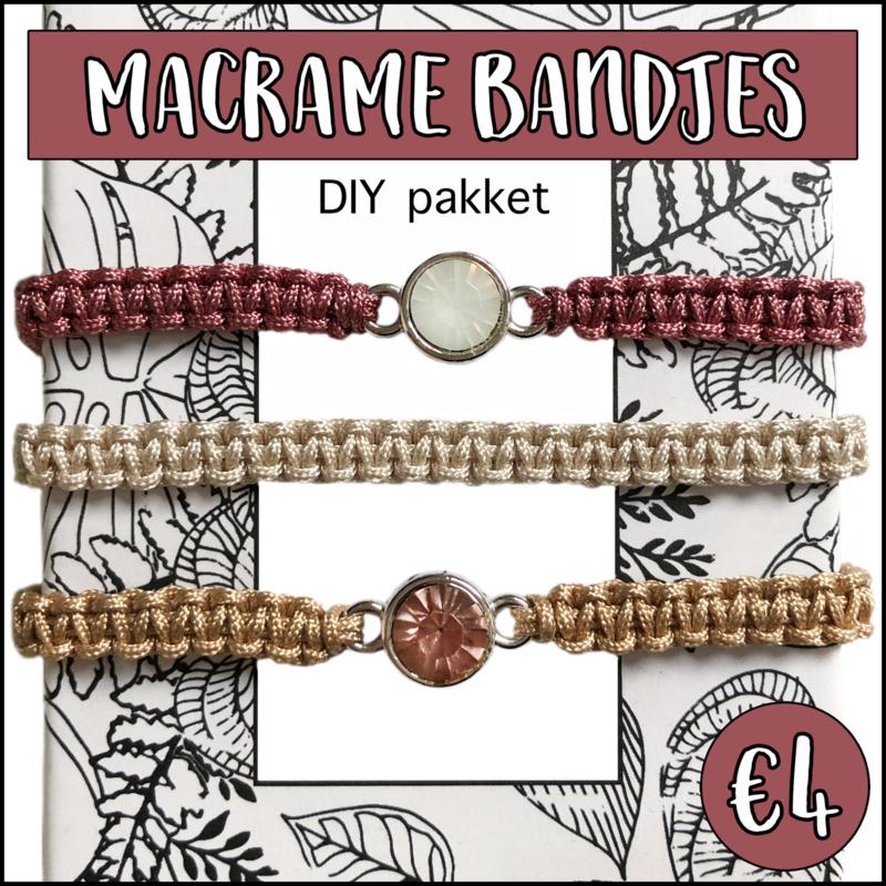 Macramé bandjes DIY pakket rouge