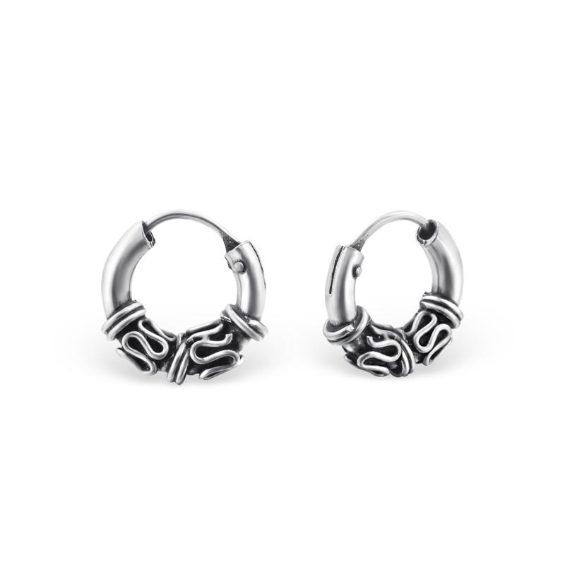 Minimal hoops 10mm - 925 sterling silver