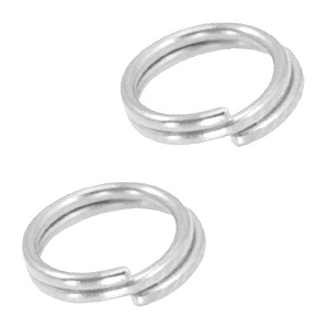 Splitring /double ring 6mm zilver