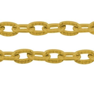 Jasseron goud 3x2mm