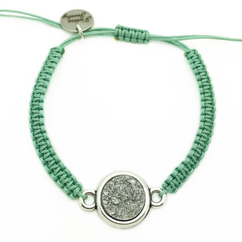 Armbandje ''goldstein'' - seagreen, silver & zilver