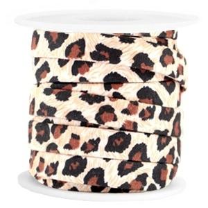 Plat koord leopard brown 10mm