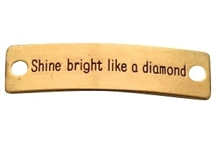 Tussenzetsel 'shine bright like a diamond' goud