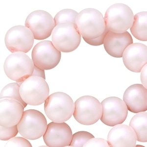 Glasperlen helle rosa pearl shine 6mm