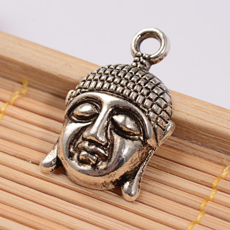 Bedel buddha hoofd zilver