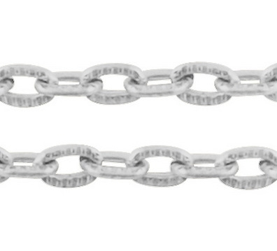 Jasseron zilver 3x2mm