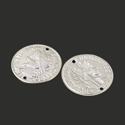 Tussenzetsel coin zilver