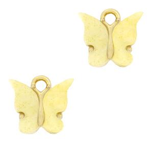 Bedel vlinder yellow goud