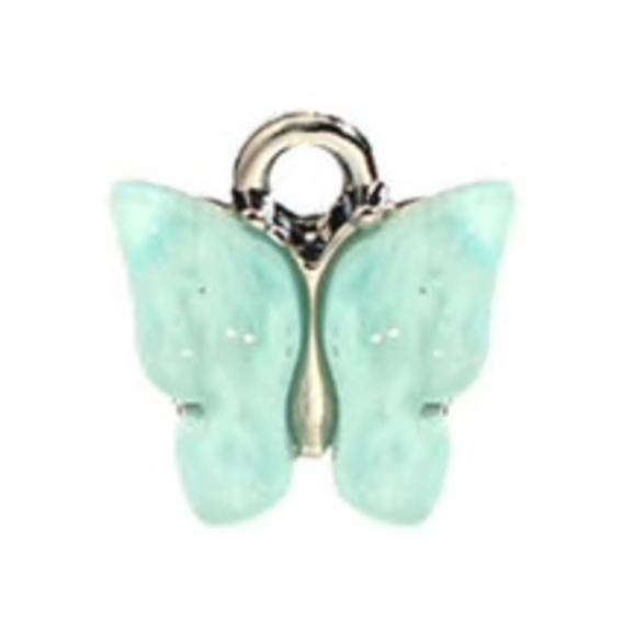 Bedel vlinder mint zilver