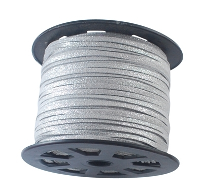 Suede kabel silber shine 3mm