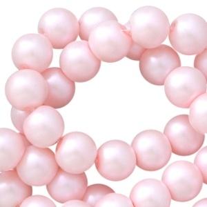 Glasparels roze pearl shine 6mm
