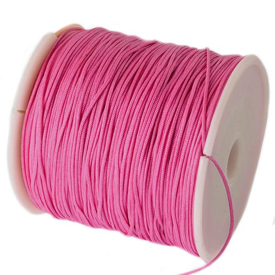 Macrame satijn koord roze 0.8mm