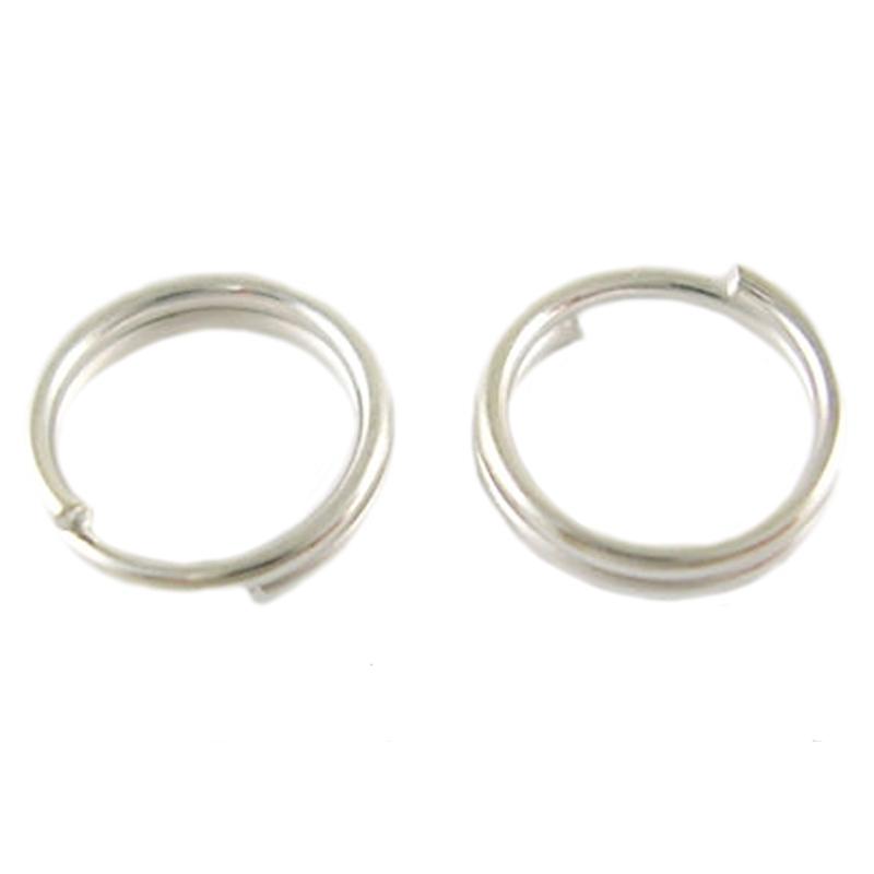 Splitringen zilver 6mm