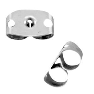 Oorbellen stoppers stainless steel Zilver (RVS)